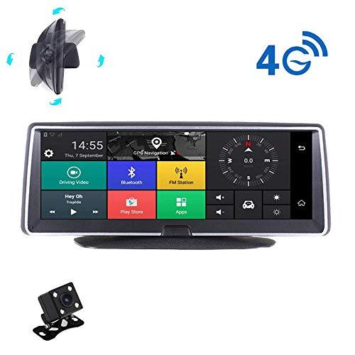 h Screen,1080P HD Car Camera Video Recorder, Front und Heck Doppel-Aufnahme, Zwei-Wege-WIFI, Fernüberwachung ADAS G-Sensor GPS Bluetooth ()