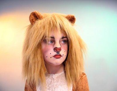 Plüschhaube Löwenhaube mit Ohren Löwe Kinder Karneval Tiermütze (Paar Halloween-kostüme Schnell)
