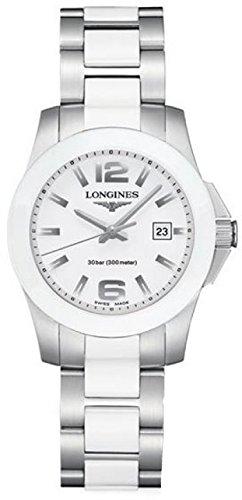 Longines Longines Conquista Bianco Quadrante Bianco Ceramica e Acciaio inox Acciaio Orologio L32574167