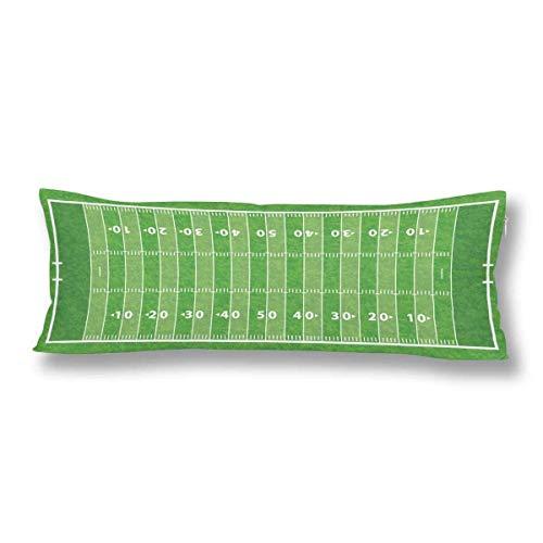 CiCiDi Seitenschläferkissen 40 x 145 cm Kindersport American Football Feld Maschinenwäsche mit Reißverschlüssen Mutterschafts- / Lange Kissenbezug k1Ua295