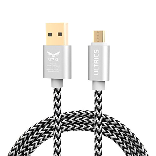 ULTRICS Micro USB Kabel Kurz 30CM, Nylon Geflochten Ladekabel 480Mbps High Speed Datenkabel, Schnellladekabel Kompatibel mit Samsung Galaxy S6/S7 Edge, Nokia, LG, PS4 Xbox Tablet andere Android