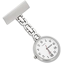 ShoppeWatch Nurses Lapel Pin Watch 24hr Military Time Analog FOB Infection Control Watch NW-231