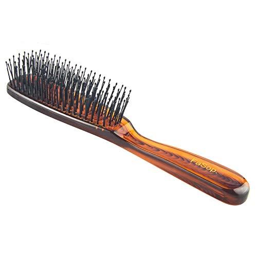 Kopfhaut Massage Haarbürste, FaSop. Kristall Haarstylingbürste Detangler zur Haarentwirrung, Haarentknoten, geeignet für Männer, Frauen und Kinder, für alle Haartypen (Bernstein)