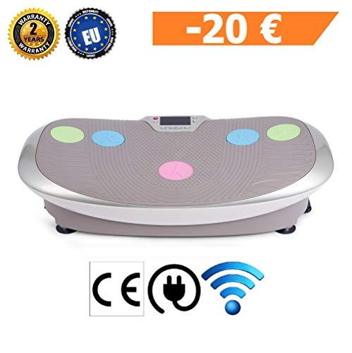 GLOBAL RELAX Zen Shaper Schwingen Fitness Vibrationsplatte (Modell 2019)-3 Automodi und 10 manuellen um Gewicht abzunehmen -3 Funktionen (Gehen-Joggen-Laufen)-Offizielle 2 Jahre GARANTIE Deutschland