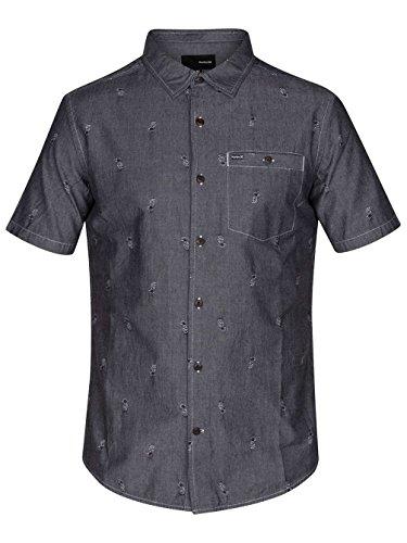 Herren Hemd kurz Hurley Kahuku Hemd Black