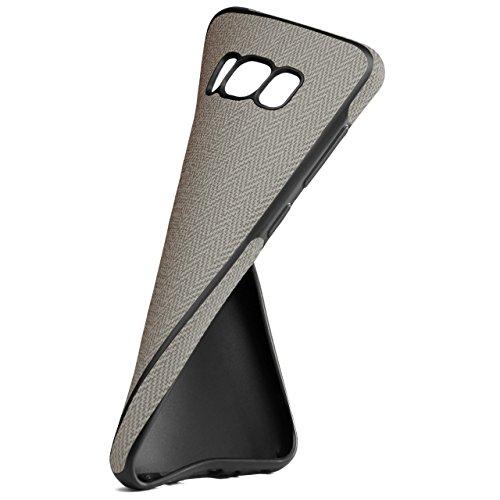 Chevron Case für iPhone 7 Plus | OneFlow Schutzhülle aus Silikon und TPU | Zubehör Cover zum Handy Schutz | Handyhülle Bumper Tasche Textil Optik in Schwarz Bigio