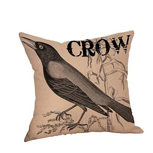 (VEMOW Happy Halloween Kissen Hom Party Dekoration Fällen Crow Leinen Sofa Kissenbezug Home Decor 18