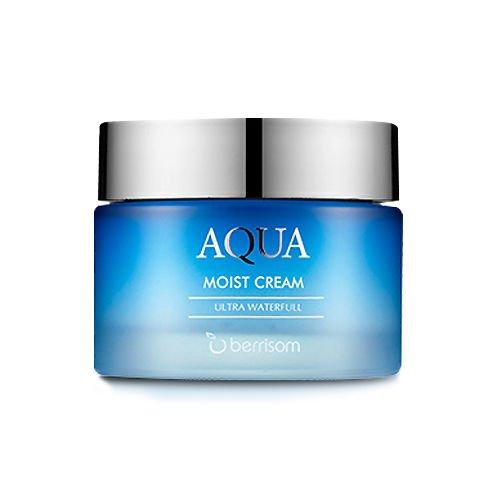 Berrisom - Aqua Moist Cream - Feuchtigkeitscreme fürs Gesicht mit Marine Kollagen und EGF gegen trockene Haut und Trockenheitsfältchen für Frauen und Männer - Feuchtigkeitscreme für alle Hauttypen - BB & CC Cremes - Tagespflege - Gesichtsmasken & Gesichtskuren