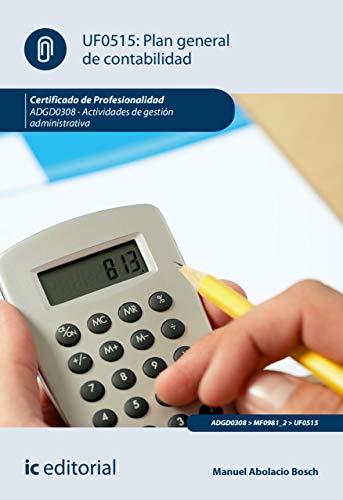 Plan General de Contabilidad. ADGD0308 por Manuel Abolacio Bosch