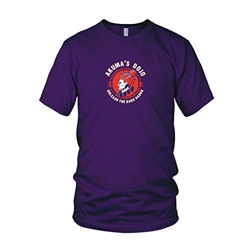 Akuma's Dojo - Herren T-Shirt, Größe: XXL, Farbe: lila
