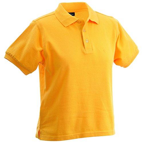 JAMES & NICHOLSON -  Polo  - Basic - Con bottoni  - Maniche corte  - Donna jaune d'or