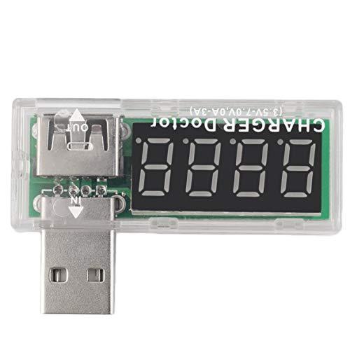Noradtjcca USB Ladegerät Doctor Mobile Batterietester Spannungsmesser Spannungsmesser 3.5-7.0V 0-3A