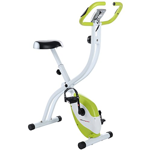Ultrasport Foldable Exercise Bike F-Bike 150 with Pulse Sensor Grips – Without Backrest