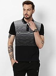 Monte Carlo Black Grey Striped Casual Collar Lower Set