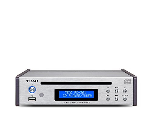 Teac PD-301DAB High End CD-Spieler inkl. DAB/UKW-Tuner, Silber Teac Cd-radio