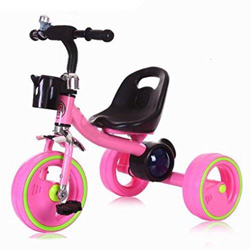 Preisvergleich Produktbild Baby Kinder Leuchten Gürtel Musik Fahrrad Pedal Dreirad