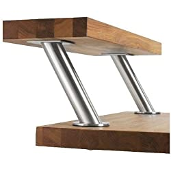 Ikea Capita IKE-400.511.96 Lot de 2 consoles de bar inclinées en acier inoxydable
