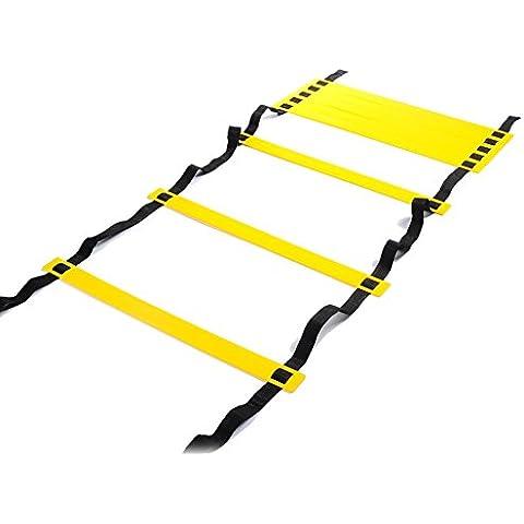 Homeself Agility Ladder Velocità scaletta per Calcio velocità formazione, caccia, corsa Fitness piedi formazione per aumentare la velocità, coordinamento e senso di equilibrio, 8-Rung