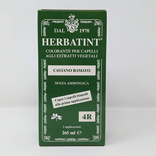 Tinta per capelli colorazione permanente senza ammoniaca naturale herbatint 265 ml n. 4 r colore castano ramato