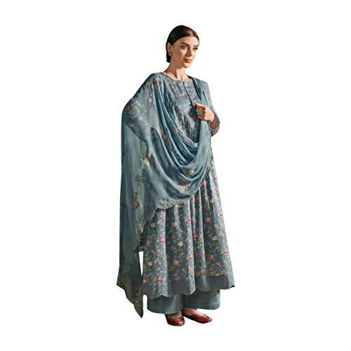 ETHNIC EMPORIUM Damen Ethnische Baumwollbeiläufiges Formal Printed Designer Indian Salwar Kameez Anarkali Stil 7991 28 bis 44 Zoll Größe Büste Wie gezeigt -