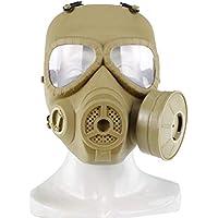 UKCOCO Unisex Men Women Full Face Mask Outdoor Sports Tactical Airsoft Paintball Máscara protectora (verde)