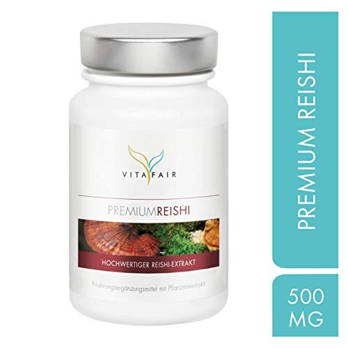 Reishi Extrakt - 500mg pro Tagesdosis - 100 Kapseln - 30% Bioaktive Polysaccharide - Hochdosierter Ganoderma Lucidum - Vegan - Ohne Magnesiumstearat - Made in Germany
