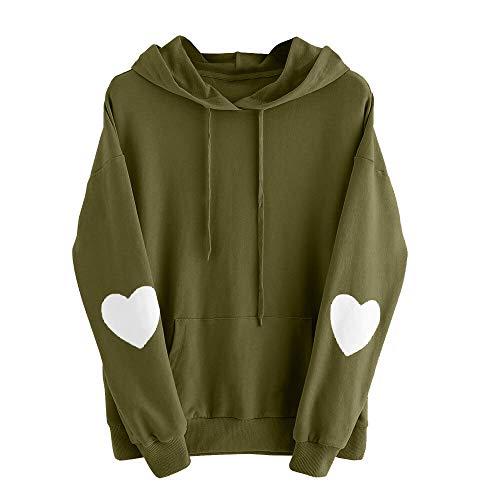 Herz Sweatshirt Pullover Mit Kapuze Pullover Tops Bluse Outwea ()