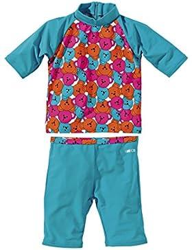 Beco Sealife–Traje de protección UV de ropa, niña, BECO UV-Schutzanzug, turquesa, 116