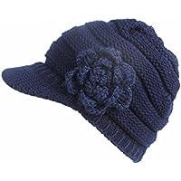 Invierno Beanie gato gorro de punto caliente cozy Mujeres grande Sombrero Moda Diseño de lana Tejer