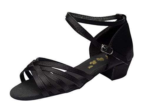 Lihaer donna cuoio scarpe da ballo latino scarpe da ballo resistenti all'usura sandali da danza per bambini