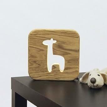 Veilleuse en bois - Girafe