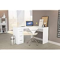 Wooden Desk Multiuse From Politorno White 1184