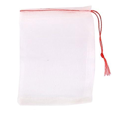 Sungpunet 20pcs Corde de nylon filtre en maille Sac de taille moyenne 15x 10cm pour aquarium étang de jardin réutilisable Nourriture Sac de rangement