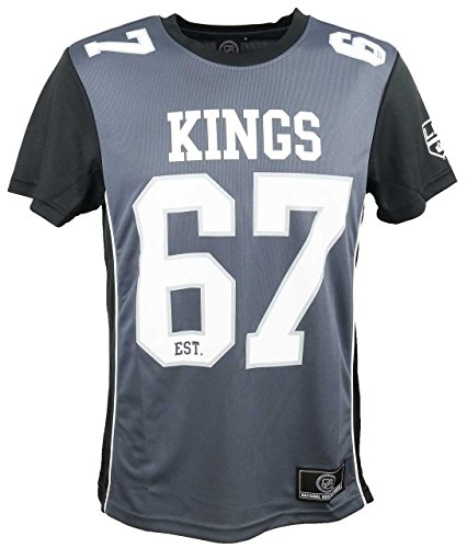 Majestic Los Angeles Kings T-Shirt/Tee - Poly Mesh - NHL 2019 - Grey - S