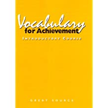 Vocabulary for Achievement Intro Course