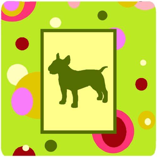 Caroline 's Treasures ck1018fc Bull Terrier Schaumstoff Untersetzer (4Stück), 8,9cm H x 8,9cm W, multicolor