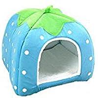 Impression 1 PCS Casa de mascotas Suministros de forma de fruta Caseta de perro Casa del gato Casa de animales Lindos accesorios para mascotas (D)