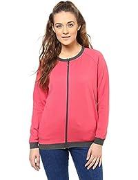 Purys Pink & Grey Combination Fleece Jacket