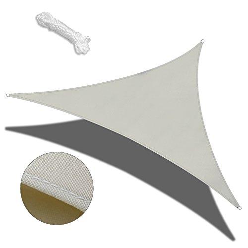 Vele parasole da,COCOFLY 3 x 3 x 3m Tenda parasole tettoia Triangle UV Block vela per esterni patio giardino piscina