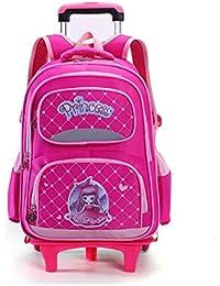 9fe9917e5 YSZDM Trolley para niños, Mochila con Ruedas, Modelo Princesa para niños  Mochila con Ruedas