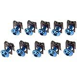 Gazechimp 10 Tornillos Tuercas de Parachoques de M5/5mm Partes para Motocicleta de Honda Kit de Reemplazo - Azul
