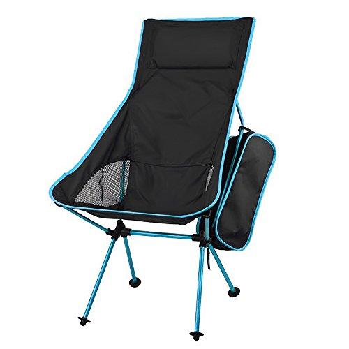 iRegro tragbares Klappsessel mit integriertem Kissen, Leicht Tragbare Folding Camping Stuhl Hocker, Ultralight Tragbarer Klappstuhl mit Tragetasche für Indoor Outdoor Event, Wandern, Picknick, Angeln