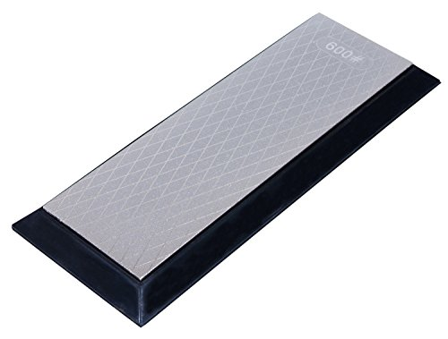 Ansen Tools AS-464 Grit Sharp Premier 8-Inch Double Sided Diamond Sharpener Fine/Extra Fine with a Non-Skid Rubber Base Grit Diamond Hone