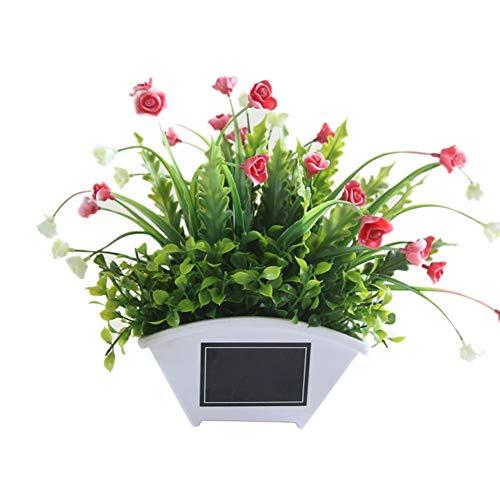 Homeofying Künstliche Blumen-Gras-Blumentopf, Bonsai, Garten, Hochzeit, Wohnzimmer, Dekoration, Kunstblume für Hochzeit