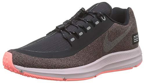 premium selection cb783 76f6d Nike Damen W Zm Winflo 5 Run Shield Laufschuhe Violett (Smokey Mauve MTLC  Silver