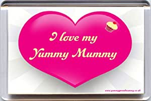 """""""I love my Yummy Mummy"""" Fridge Magnet. A Unique Gift idea for Mothers from Yummy Grandmummy. Would make a great Christmas Stocking Filler!"""