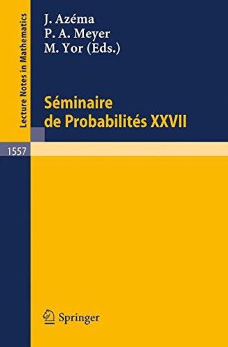 Séminaire de Probabilités XXVII