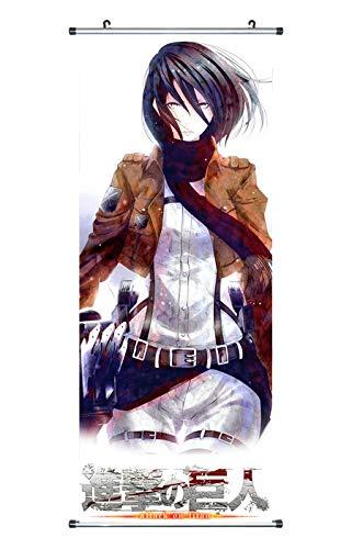 ttack on Titan Rollbild / Kakemono aus Stoff Poster, 100x40cm, Motiv: Mikasa Ackermann ()