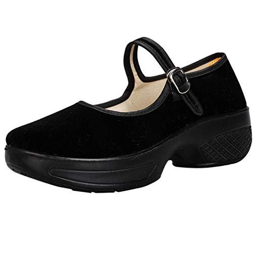 Bailarinas de Plataforma para Mujer, QinMM Zapatos cómodos del otoño del Verano Casual Merceditas...