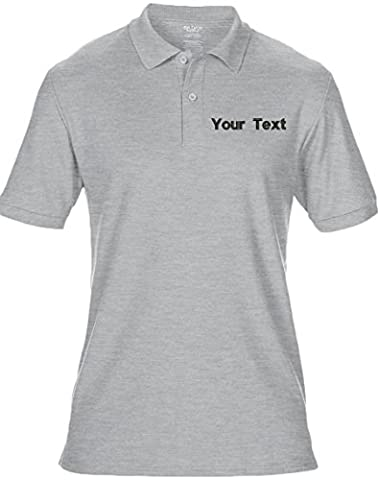 Embroidered Your Text Logo Personalised Workwear Uniform Mens Polo T-Shirt 8 Colours (S-5XL) by swagwear